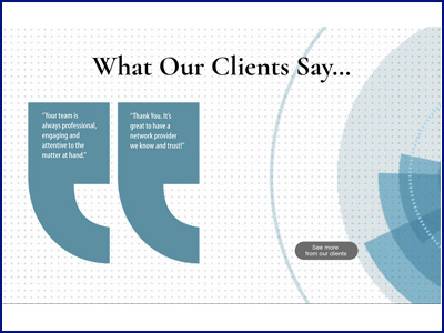 OFM what clients say
